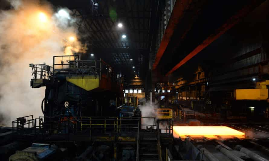 The plate mill at Scunthorpe. British Steel is on the brink of collapse putting thousands of jobs at risk.