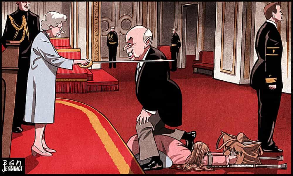 Ben Jennings on Iain Duncan Smith's knighthood – cartoon