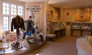 Details of local history on display at Hastings Museum and Art Gallery.