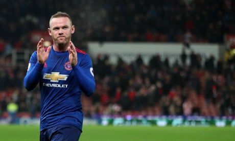 Wayne Rooney breaks Manchester United scoring record with equaliser against Stoke City