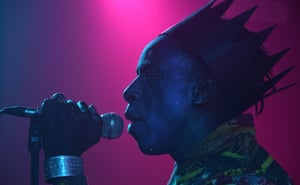 American rapper and singer-songwriter Saul Williams at Clwb Ifor Bach, Cardiff