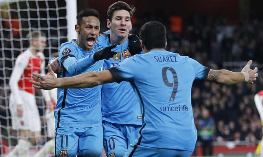 Neymar, Lionel Messi and Luis Suarez
