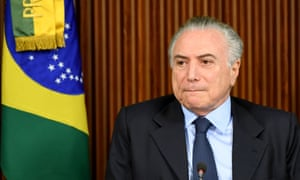 Michel Temer. The charge is related to the plea-bargain testimony by executives at the meatpacking giant JBS SA.