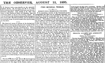 The Observer, 11 August 1895.