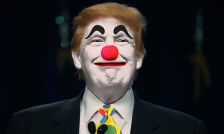 Donald Trump in clown make-up