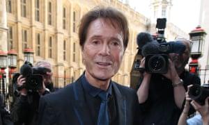 Cliff Richard arrives at court