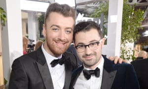 Sam Smith (l) and songwriter/producer Jimmy Napes.