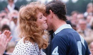 Fergie with Prince Charles at a polo match in 1986.