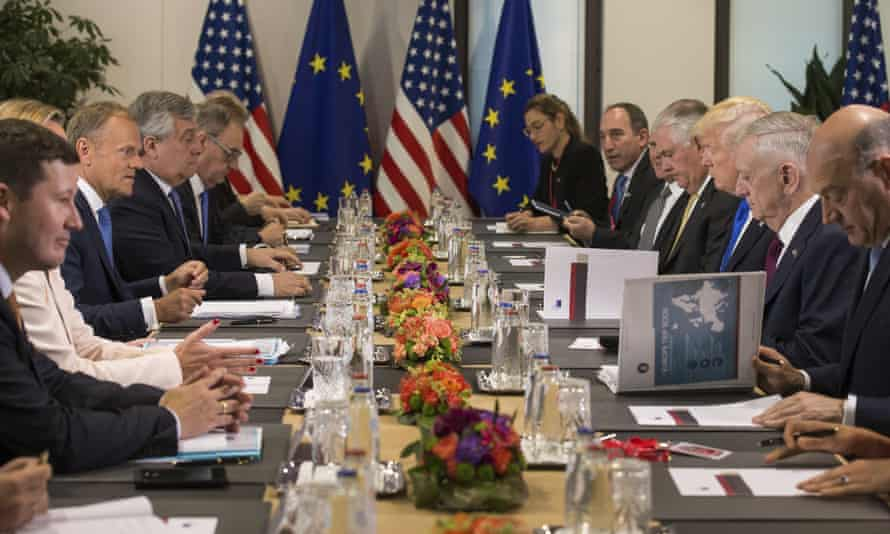 The talks between the US and European council in Brussels last month.