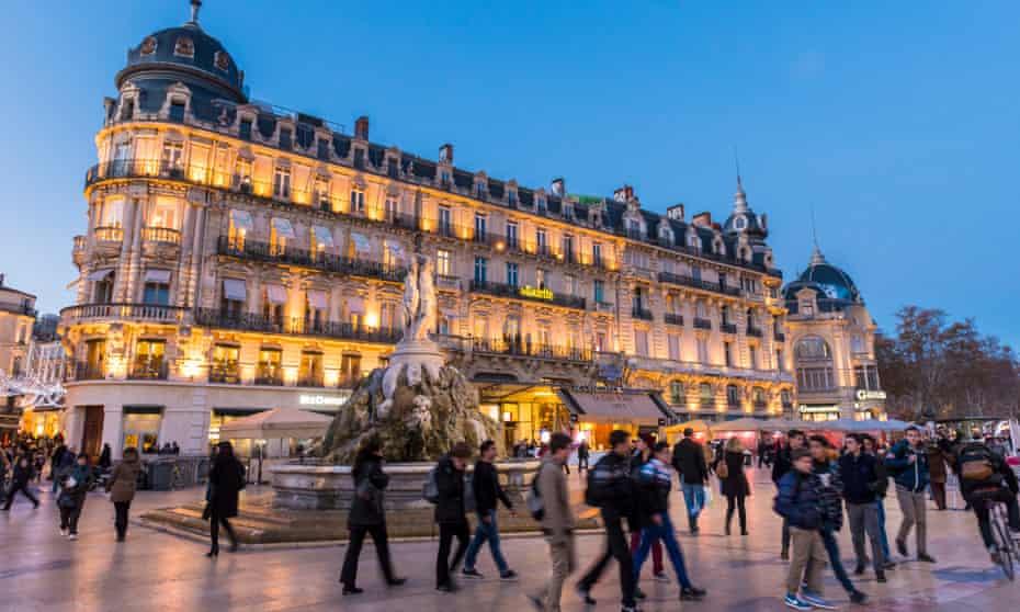 Place de la Comedie in the centre of Montpellier.