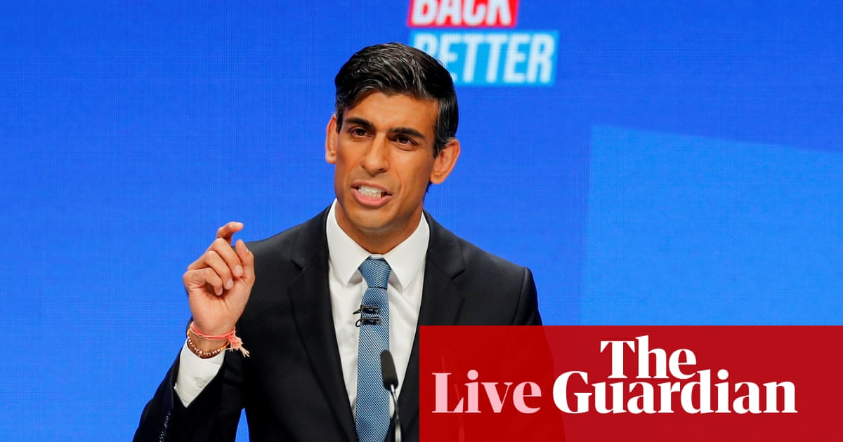 Tory conference live: Rishi Sunak says Brexit will be worth it in the long term amid supply chain crisis
