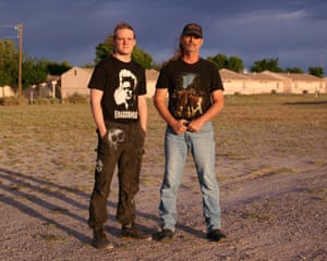Portrait of Tristain and Mark Lucke in Willcox, Arizona.
