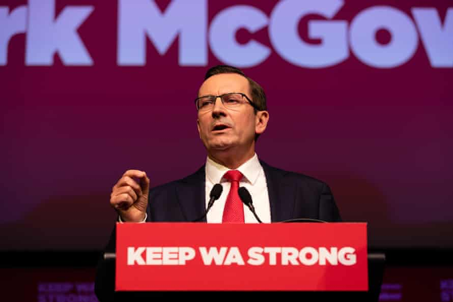 WA premier Mark McGowan speaks during the launch of the Labor party campaign in Perth on 21 February. Perth's homelessness crisis is one of the few election issues on which McGowan doesn't control the narrative.
