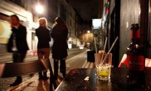 Women outside Soho bar