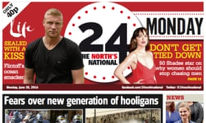 24 newspaper: targeting an area with a population of more than 1 million adults
