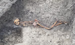 The skeleton discovered near Wellwick Farm with its hands bound.