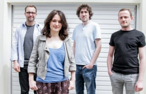 trish clowes with from left to right chris montague james maddren and ross stanley