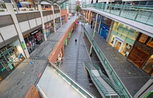 Shops and streets in Liverpool are quiet