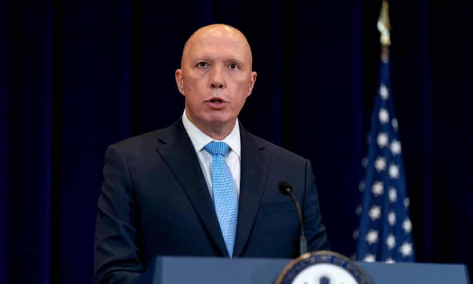 Defence minister Peter Dutton