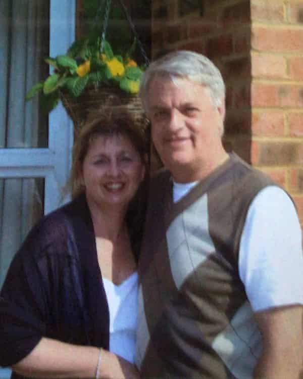 Karen Wilson with her husband Julian.