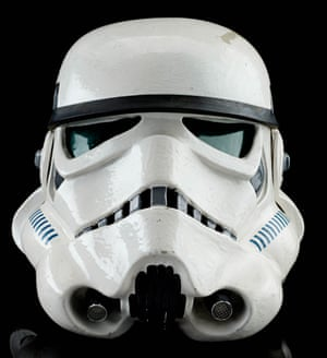 A screen-matched Tantive IV stormtrooper helmet from George Lucas' Star Wars: A New Hope. Estimate: £120,000 - £180,000