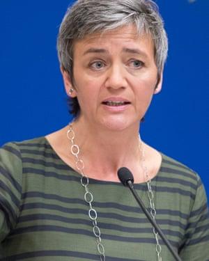 European commissioner for competition, Margrethe Vestager.
