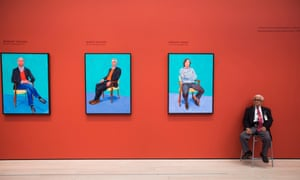 David Hockney paintings at the Los Angeles County Museum of Art.