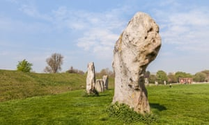 Avebury Great Henge stones in Wiltshire, England.
