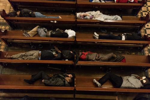 As part of the Gubbio Project, the church is allowing homeless people to sleep inside