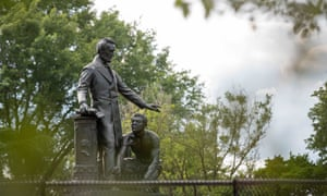 The Emancipation Memorial at Lincoln Park in Washington DC.