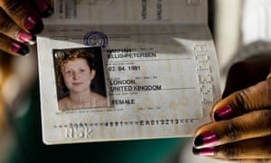 Hannah Ellis-Petersen's NSK passport.