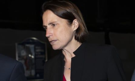 Former White House adviser on Russia Fiona Hill leaves Capitol Hill after testifying before congressional lawmakers.