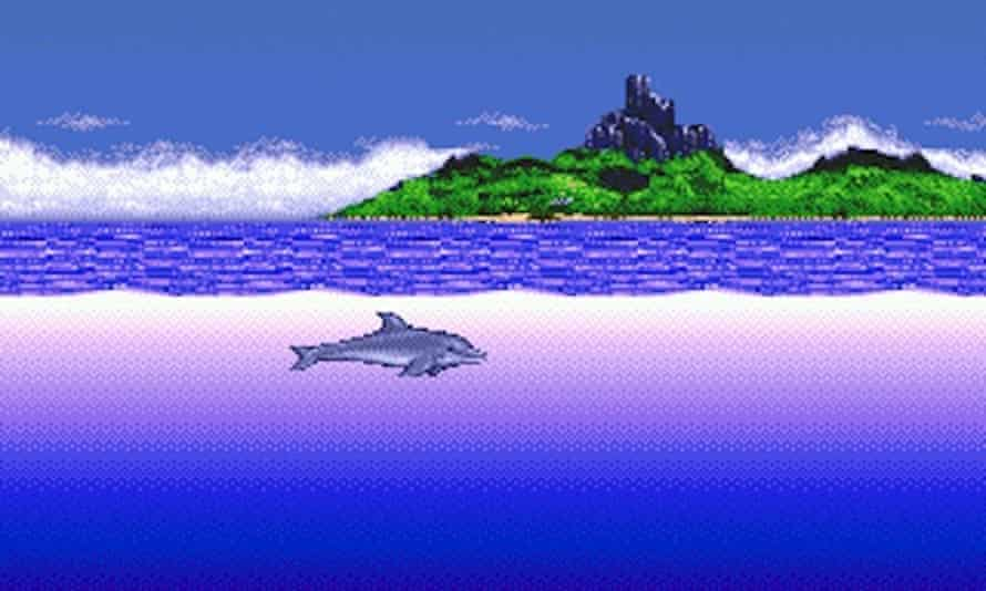 Ecco the dolphin pictured moments before time-travelling to Atlantis in this realistic simulation