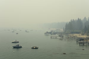 The scene in Incline, Nevada, on Tuesday. A major wildfire has not penetrated the Lake Tahoe Basin since 2007.