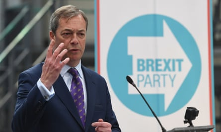Nigel Farage's new Brexit Party has opened up a five-point lead in the next month's elections to the European Parliament.