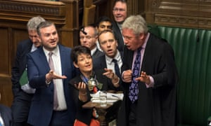 MPs mob the Speaker