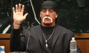 Terry Bollea, aka Hulk Hogan, takes the oath in court during his trial against Gawker Media, in St Petersburg, Florida