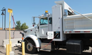 Dump trucks refuel with renewable natural gas made from human poop at the Persigo Wastewater Treatment Plant in Grand Junction.