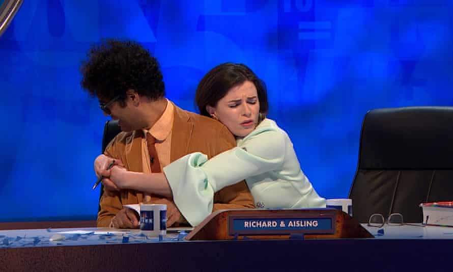 'On panel shows people who aren't as loud don't get to speak': with Richard Ayoade on 8 Out of 10 Cats.