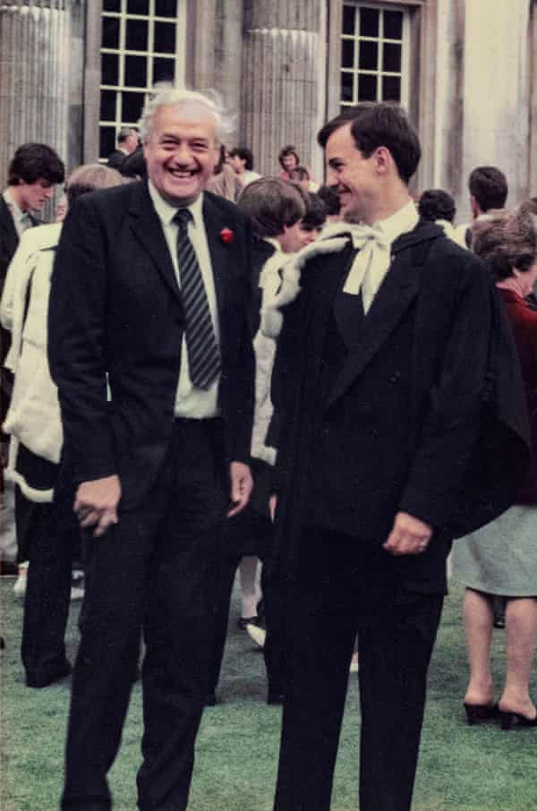 Albert and Peter Bradshaw at the latter's graduation.