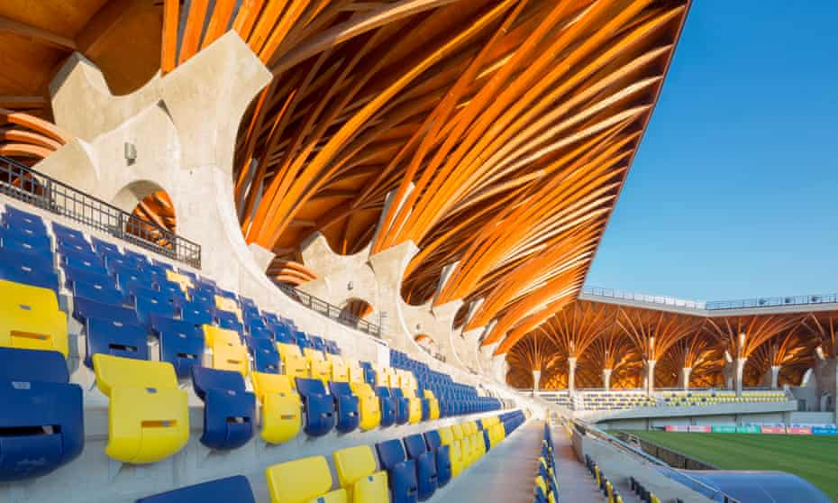 More cathedral than stadium … Puskás Akadémia FC's Pancho Aréna in Felcsút, Hungary.