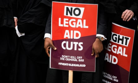 Protest against cuts to legal aid in March 2014.