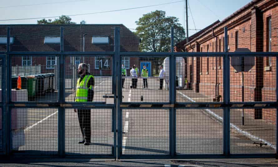Security guards at Napier barracks