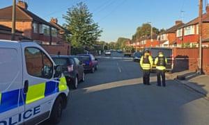 Police at Gillingham Road, Salford