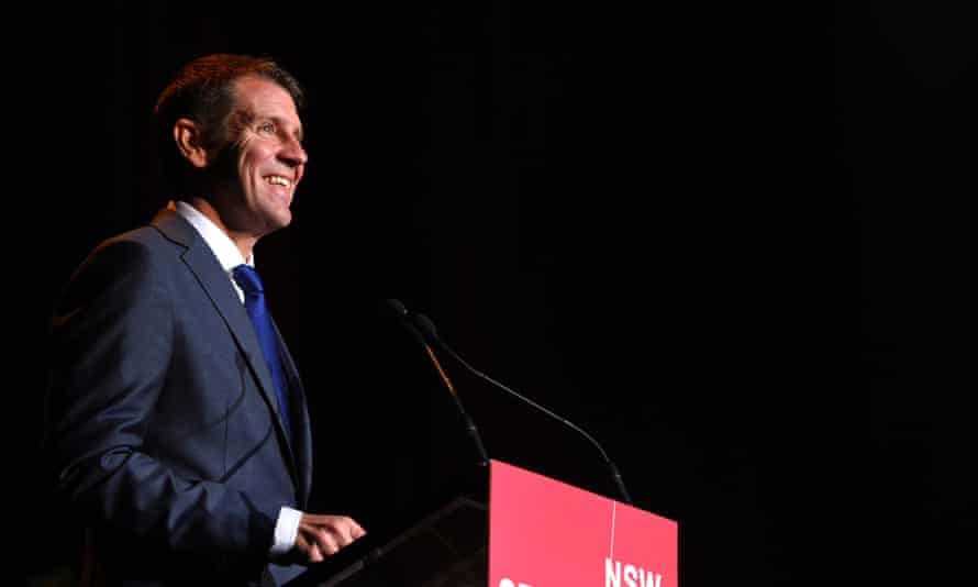 NSW Premier Mike Baird addresses the NSW Seniors Week Premier's Gala Concert, in Sydney, Tuesday, March 17, 2015. Mr Baird has pledged to commit $2 million to help the state's 1.3 million seniors card holders leverage better deals with the private sector. (AAP Image/Dan Himbrechts) NO ARCHIVING