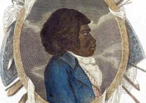 An illustration of Bennelong in European clothes
