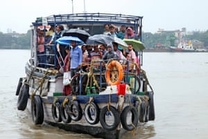 A ferry service in Kolkata, India