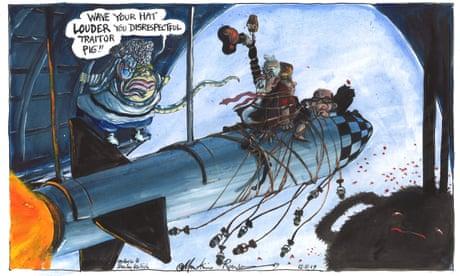 Martin Rowson on Boris Johnson v Jeremy Corbyn – cartoon