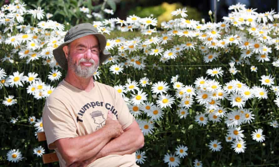 Chris Holmes in his garden in Ballywatticock, County Down