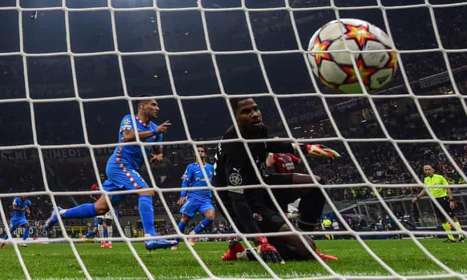 Luis Suarez escapes after scoring the winning goal.